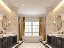 100 Marble Walls Luxurious Bathroom With White Marble Walls And Floors Black
