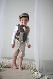 Boys Bohemian Wedding Vest Little Vintage Look