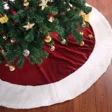 Traditional Velvety Soft Christmas Tree Skirt