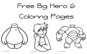 Free Coloring Pages Big Hero 6