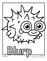 Blurp Fishies Moshi Monster Coloring Page