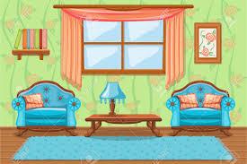 set karikatur gepolsterte möbel wohnzimmer