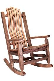 Homestead Log Rocker - Stained & Lacquered