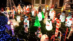 Halloween Blow Molds by 2016 Christmas Lights Display 30 000 Lights 160 Blow Molds