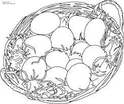 Easter Egg Basket Line Art For The 85 X 11 Printable Size Click Here Return To Coloring Pages Index