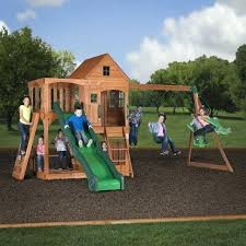 Small Backyard Playsets – Abreud.me Swing Sets Give The Kids A Playset This Holiday Sears My Tips For Buying And Installing A Set Or Outdoor Skyfort Ii Wooden Playsets Backyard Discovery Amazoncom Prestige All Cedar Wood Costco Gorilla Swings Frontier Walmartcom Creations Adventure Mountain Redwood Installation Interesting Playground Design With And Home Paradise Home Decor Amazing For Billys Ma Ct Ri Nh Me