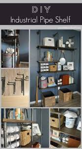 Making A Wooden Shelving Unit by Rustic Industrial Pipe And Wood Shelving Unit Floor To Ceiling