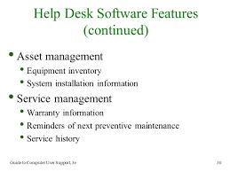 chapter 6 help desk operation ppt video online download