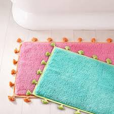 Edges Pink and Blue Bath Mat