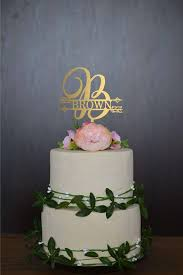 Cake Topper Letter B Wedding Date Initial Monogram Large
