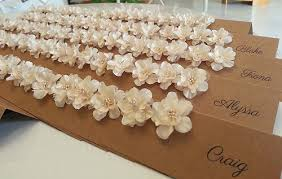 Rustic Silk Flower Place Cards Name Freestanding Tentfold Sydney