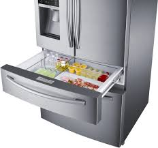 Samsung Counter Depth Refrigerator rf28hmedbsr samsung stainless steel 36