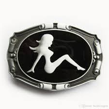 100 Truck Belt Men Buckle New Vintage Mud Flap Girl Enamel Buckle