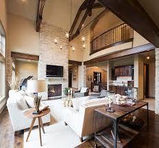 Log Cabin Interiors With Artistic Modern Rustic