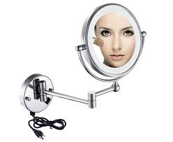 best lighted wall mount makeup mirrors inside mirror 10x plan led