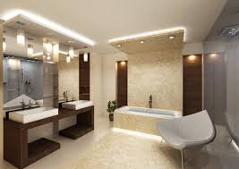 modern bathroom design and decoration using drum white glass