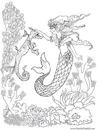 Mermaid Training A Sea Dragon Coloring Page Pheemcfaddell