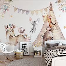 panoramatapete kinder schlafzimmer tapete tiere wandbild