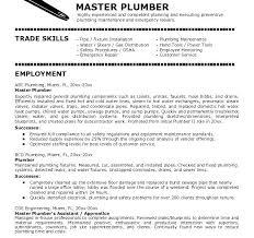 Resumes For Plumbers Sample Professional Resume