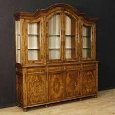 details zu bücherschrank vitrine kredenz antik stil möbel wohnzimmer italienisch holz