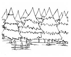 Simplistic Winter Tree Coloring Page Landscapes Sheets Google Search