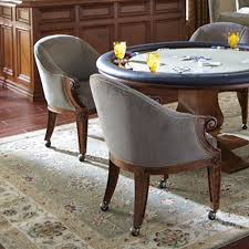 Dinette Sets With Roller Chairs by Poker Chairs With Casters Custom Leather Ivey Collection Ch W1