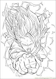 Dragon Ball Z Coloring Page Free Pages