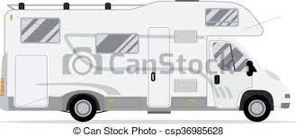 Rv Mobile Home Truck Vector