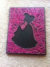 String Art Tableau En Fils Tendus Motif Princesse