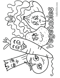 Vegetable Coloring Page Pages For Preschoolers Basket Soup Full Size