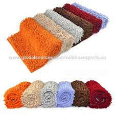 India Cotton Anti slip Shaggy Bath Mat Set on Global Sources