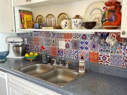 yaya bleucoin tile decal backsplash