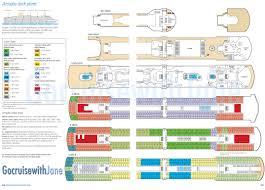 Norwegian Jewel Deck Plan 5 by P U0026o Cruises 2012 2013 Deck Plans