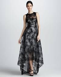 monique lhuillier hilo sleeveless lace dress in black lyst