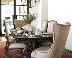 Studded Dining Room Chairs With Trim Incredible Upholstered Fabric