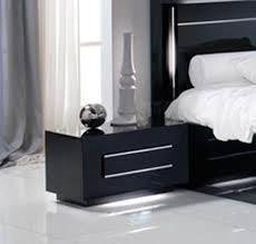 chambres à coucher pas cher chevet 1 tiroir city laque noir chambre à coucher