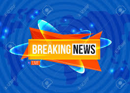 Breaking News Sting On Blue Background Stock Vector
