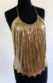 Womans Plus Size Disco Gold Costume