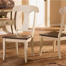baxton studio napoleon buttermilk and medium brown wood dining