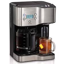 12 Cup Coffee Maker Hot Water Dispenser Black Stainless