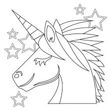 Unicorn Emoji Coloring Page 2018 Open Pages Regarding