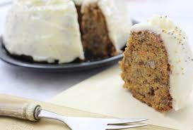 rezept karotten walnuss kuchen mit frischkäse topping