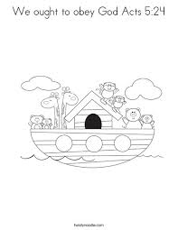 We Ought To Obey God Acts 524 Coloring Page