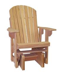 Cypress Outdoor Amish Adirondack Chair Single Glider