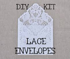 DIY KIT For A Set Of 50 Lace Wedding Invitation Envelope Liners Paper Doily
