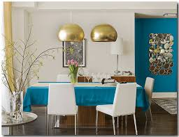 Pittsburgh Paints Blue Paisley Dining Room