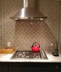taupe glass subway tile kitchen backsplash outlet arafen tumbled