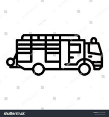 Fire Engine Outline Vector Icon Stock Vector (Royalty Free ... Firetruck Clipart Free Download Clip Art Carwad Net Free Animated Fire Truck Outline On Red Neon Drawing Stock Illustration 146171330 Engine Thin Line Icon Vector Royalty Coloring Page And Glyph Car With Ladder Fireman Flame Departmentset Colouring Pages Trucks Printable Lineart Of A Cartoon Black And White With Linear Style Sign For Mobile Concept Truck Icon Outline Style Image Set Collection Icons