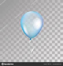 Blue transparent balloon on background Frosted party balloons for event design Balloons isolated in the air Party decorations for birthday anniversary