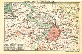 100 Where Is Antwerp Located Und Umbegung Belgium Antique Maps And Charts Original